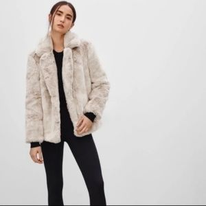 Aritzia Sunday Best Faux Fur Mortimer Coat Jacket